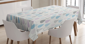 Droplets Artsy Tablecloth