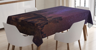 Sky Cosmos Galaxy Stars Tablecloth