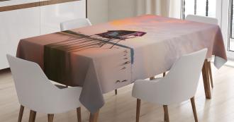 Sunset Ocean Twilight Tablecloth