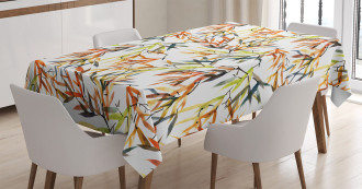 Ethnic Folk Bamboos Tablecloth
