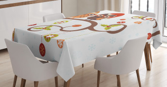 Noel Owls Folkloric Tablecloth