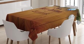 Fairy on Wood Pine Tablecloth