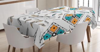 Tribal Bohemian Feather Tablecloth