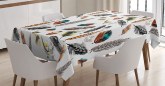 Vivid Feathers Vivid Art Tablecloth