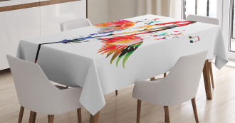 Feather with Wings Birds Tablecloth