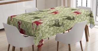 Damask Kitsch Pattern Tablecloth