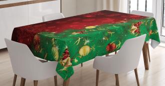 Jingle Bells Trees Tablecloth