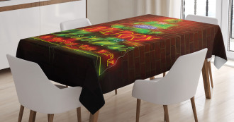 Happy New Year Neon Tablecloth