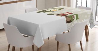 Snowflake Winter Day Tablecloth