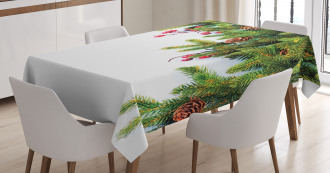 Tree Branches Cones Tablecloth