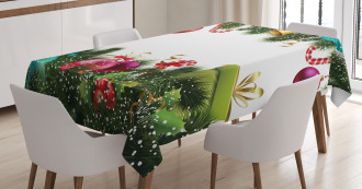 New Year Celebration Tablecloth
