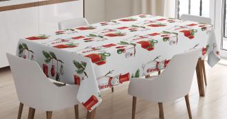 Xmas Motif Gift Box Tablecloth