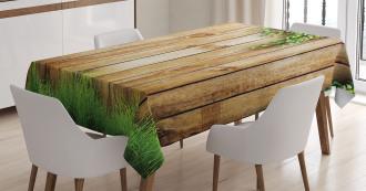 Wooden Garden Fence Tablecloth