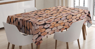 Wooden Lumber Tree Logs Tablecloth