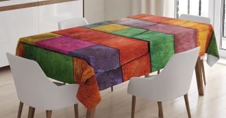 Rainbow Timber Art Tablecloth