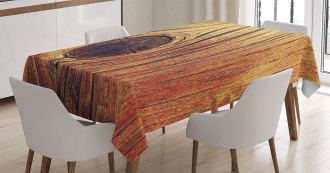 Aged Wooden Texture Tablecloth