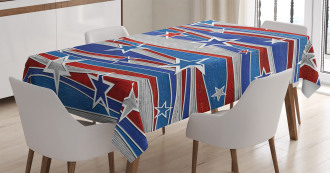 Abstract USA Flag Tablecloth