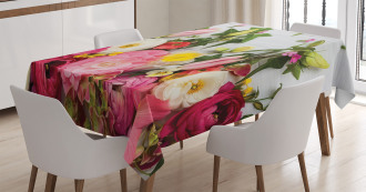 Rustic Home Rose Flowers Tablecloth