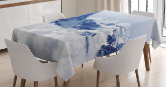 Clouds on Summit Winter Tablecloth