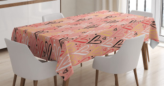 Heart Valentines Love Tablecloth