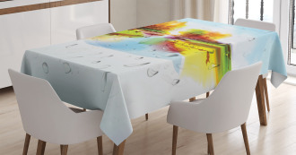 Lake Trees Pastoral Tablecloth