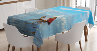 Ship Wreck Landscape Tablecloth