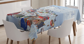 Frozen Winter Design Tablecloth