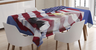 Bless America Flag Tablecloth