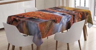 Waterfall Autumn Tablecloth