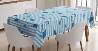 Turtle Blue Aquatic TableCloth