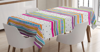 Bows Hearts Dots Girly Tablecloth