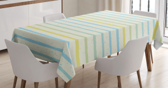 Grunge Pastel Pattern Tablecloth
