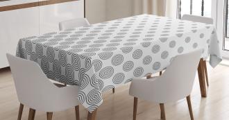 Spiraling Dots Tablecloth