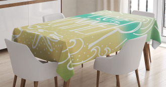Motivational Sun Quote Tablecloth