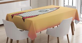 Futuristic Quote Tablecloth