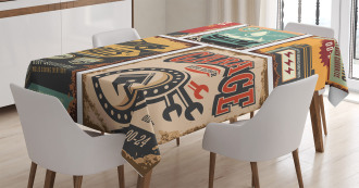 Grunge Funk Style Tablecloth