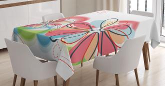 Cute Floral Haze TableCloth