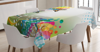 Flying Color Butterfly Tablecloth