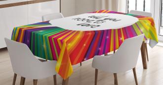 Hippie Retro Quote Tablecloth