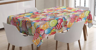 Sweet Candy Store Tablecloth