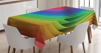 Color Wave Curls Art Tablecloth