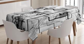 Modern Paris Girl Tablecloth