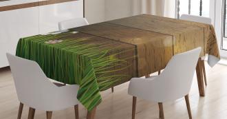 Chamomile Field Grass Tablecloth