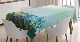 Aqua Painting Effect Tablecloth