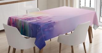 Lavender Violet Flowers Tablecloth