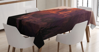 French Alps Peak Sunset Tablecloth