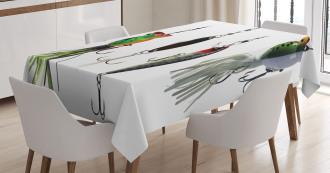 Fishing Baits Hobby Leisure Tablecloth