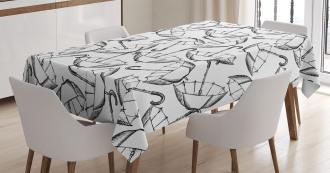 Sketch of Umbrellas Tablecloth