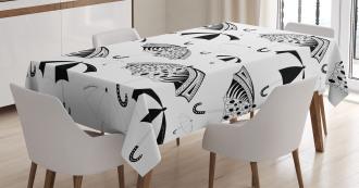 Ornate Umbrellas Tablecloth