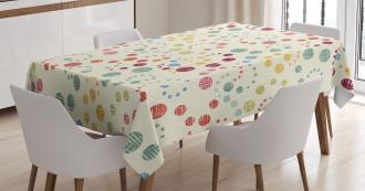 Retro Colorful Art Tablecloth